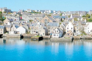 The Stromness waterfront looks more like Iceland than Scotland. Photo / Peter Calder