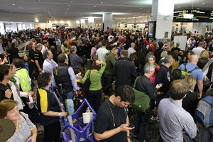 Passengers at Melbourne Airport face major delays after Virgin Blue's computerised check-in system crashed, forcing the cancellation of flights. Photo / Getty Images