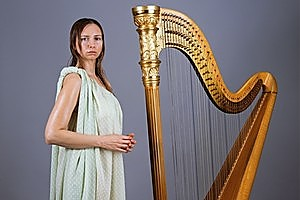 Greasy Harpist by Yvonne Todd. Photo / Supplied.