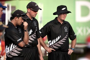 New Zealand mens triple team of  Shannon McIlroy, Richard Girvan and Andrew Todd. Photo / Getty Images