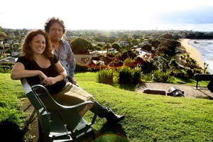 Virgil Evetts and his partner Charlotte Perry say Devonport is like a rural village or an island. Photo / Natalie Slade
