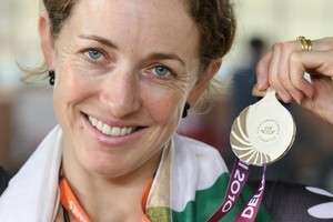 Joanne Kiesanowski says she's happy with her silver medal. Photo / Brett Phibbs