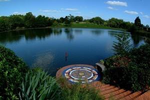 The lake at Hamilton Gardens. Photo / Supplied