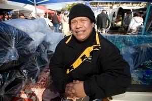 Misi Toumoua, Len Brown supporter. Photo / Richard Robinson