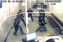 A still image of CCTV footage of the tasering. Photo / Supplied.