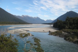 The Arawata River and valley. Photo / Jill Worrall