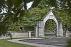 The Malone Memorial gates in Stratford. Photo / Chris Samsara