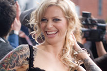 Gin Wigmore came away with four awards including album of the year for her debut <i>Holy Smoke.</i> Photo / Brett Phibbs