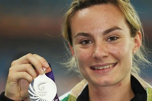 Silver medalist Nikki Hamblin. Photo / Getty Images
