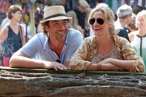 Bardem with Julia Roberts in  Eat Pray Love . Photo / Supplied