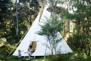 Spend a fun night in a tipi at Solscape Eco Retreat. Photo / Supplied