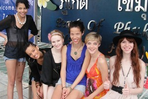 New Zealand's Next Top Model  contestants in Thailand. Photo / Supplied.