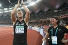 Stuart Farquhar of Hamilton won a silver medal in the men's javelin. Photo / Brett Phibbs
