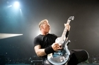 James Hetfield rocks the Vector Arena last night. Photo / Richard Robinson
