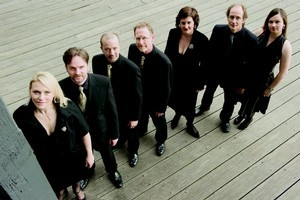 The Song Company's Lanneke Wallace-Wells, Richard Black, Mark Donnelly, Clive Birch, Anna Fraser, Roland Peelman, and Louise Prickett. Photo / Supplied