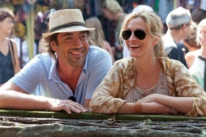 Eat, Pray, Love co-stars Javier Bardem and Julia Roberts. Photo / Supplied