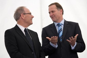 Len Brown took a note out of John Key's book by using Antoine's as a campaign venue. Photo / Dean Purcell