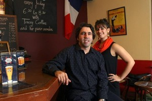 Owner of Patis Alex Roux and waitress Amandine Petit. Photo / Dean Purcell