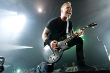 Metallica frontman James Hetfield. Photo / Richard Robinson