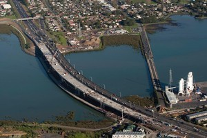 New Mangere Bridge on the South Western Motorway. Photo / Richard Robinson