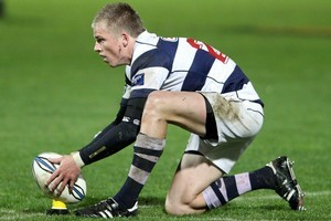 Gareth Anscombe lines up the kick. Photo / Getty Images