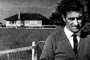 Detective Inspector Bruce Hutton at the Crewe Homestead during the inquiry. File photo / NZ Herald
