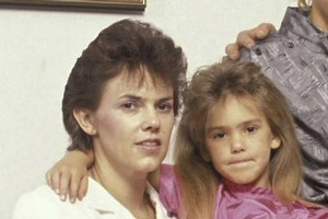 Lindy Chamberlain pictured in 1989 with her daughter Kahlia, who was born two years after Azaria's disappearance. Photo / Getty Images