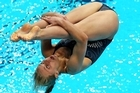 Gabe Armstrong-Scott competes in the Women's 1m Springboard Final. Photo / Getty Images