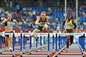 Australia's Sally Pearson won gold in the 100m hurdles after being stripped of her 100m gold last week. Photo / Getty Images