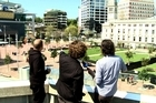 The new venue for the Laneway Festival - Aotea Square. Photo / Herald Online
