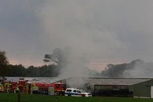 Firefighters battle the Lipperton blaze. Photo / NZPA