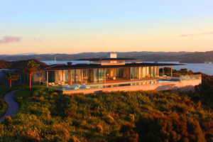Eagles Nest is set within a 30ha estate, and its guests have included Demi Moore and Ashton Kutcher. Photo / Supplied