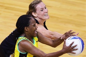 The Silver Ferns eased by Jamaica 59-43 in their semifinal match. Photo / Getty Images