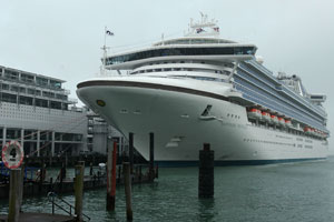 The Sapphire Princess arrives in Auckland tomorrow at the start of the cruise industry season. Photo / Martin Sykes