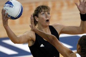 Irene van Dyk and the Silver Ferns take on Barbados today. Photo / Getty Images
