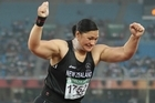 Gold medallist Valerie Adams is among the New Zealand Commonwealth Games athletes returning home today. Photo / Brett Phibbs