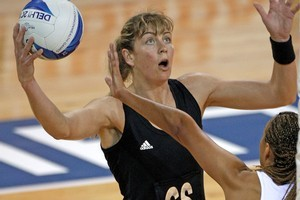Irene van Dyk of the Silver Ferns. Photo / Getty Images