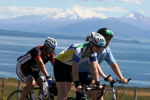 Competitors in the Lake Taupo Cycle Challenge. Photo / Supplied