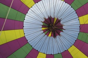 The colourful patterns of the balloon. Photo / Herald on Sunday
