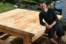 Justin Newcombe's table will be able to fit the pizza oven and leave space on the side, doubling as a pizza bar. P