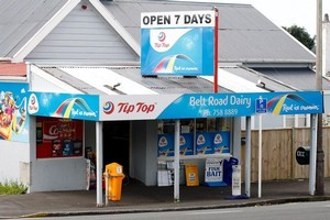 The Belt Rd Dairy in New Plymouth has been hit by two robberies within months. Photo / Christine Cornege