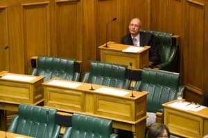 Te Atatu MP Chris Carter has few distractions as he surveys Parliament. Photo / Mark Mitchell