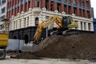 Pulling down the historic Manchester Courts building will take six to 12 weeks. Photo / Simon Baker