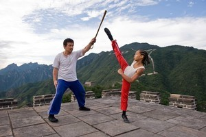 State-run China Films contributed US$5 million to help finance the remake of The Karate Kid, starring Jackie Chan and Jaden Smith. Photo / Supplied