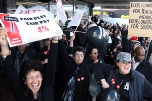 Secondary school teachers marched in an effort to gain better teaching conditions last month. Photo / Rotorua Daily Post