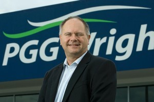 Tim Miles, outgoing general manager of PGG Wrightson. Photo / Simon Baker