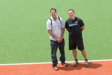 Successful coaches Mark Hager and Shane McLeod. Photo / Paul Estcourt