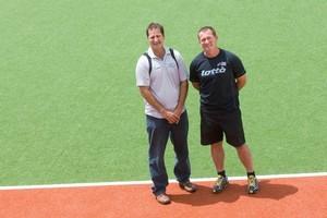 Successful coaches Mark Hager and Shane McLeod. Photo / Paul Estcourt