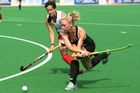 Black Sticks player Anita Punt in action against Wales at the Delhi Games where the women won silver. Photo / Brett Phibbs