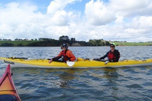 Kayaks are a fun way to make the most of our waterways, like the stretch between Long Bay and the Wade River. Photo / Supplied